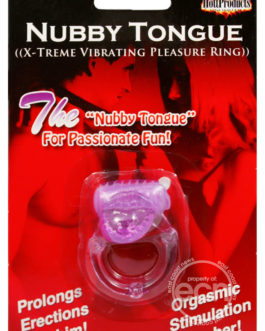 Nubbie Tongue Vibrating Silicone Cock Ring Waterproof