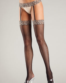 Be Wicked Thigh High Stockings Leopard O/S