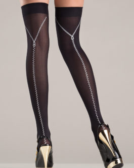 Be Wicked Thigh High Stockings Black O/S