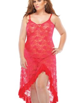Coquette Lingerie Lace Gown and G-String Set