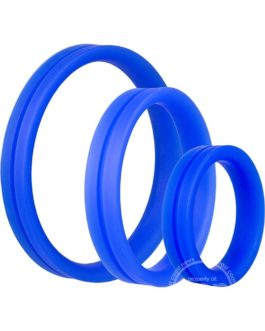 Ringo Pro X3 Silicone Cock Rings Set Waterproof  3 Piece Pack