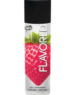 Wet Flavored Water Based Lubricant Strawberry 3 Ounce