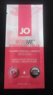 System JO Naturalove USDA Strawberry Organic Lubricant, 10ml