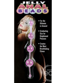 Jelly Anal Beads 5.75 Inch Pink