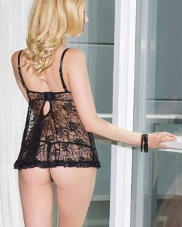 Coquette Lace Babydoll and G-String Set