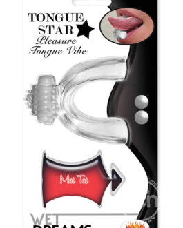 Wet Dreams Tongue Star Pleasure Tongue Vibe With Flavored Lubricant 10 Milliliters Clear