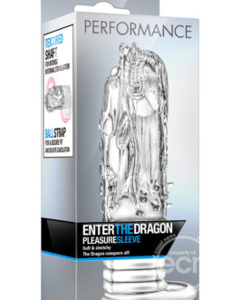 Stay Hard Enter The Dragon Textured Extender Sleeve Clear 5.25 Inch