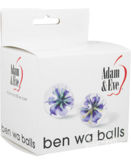 Adam & Eve Glass Ben Wa Balls Waterproof 1 Inch Diameter